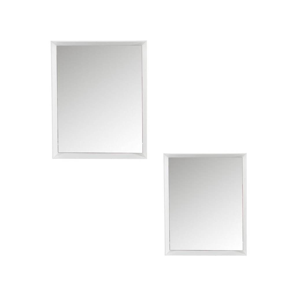 Duo de Miroirs rectangulaires Bois blanc - YREL