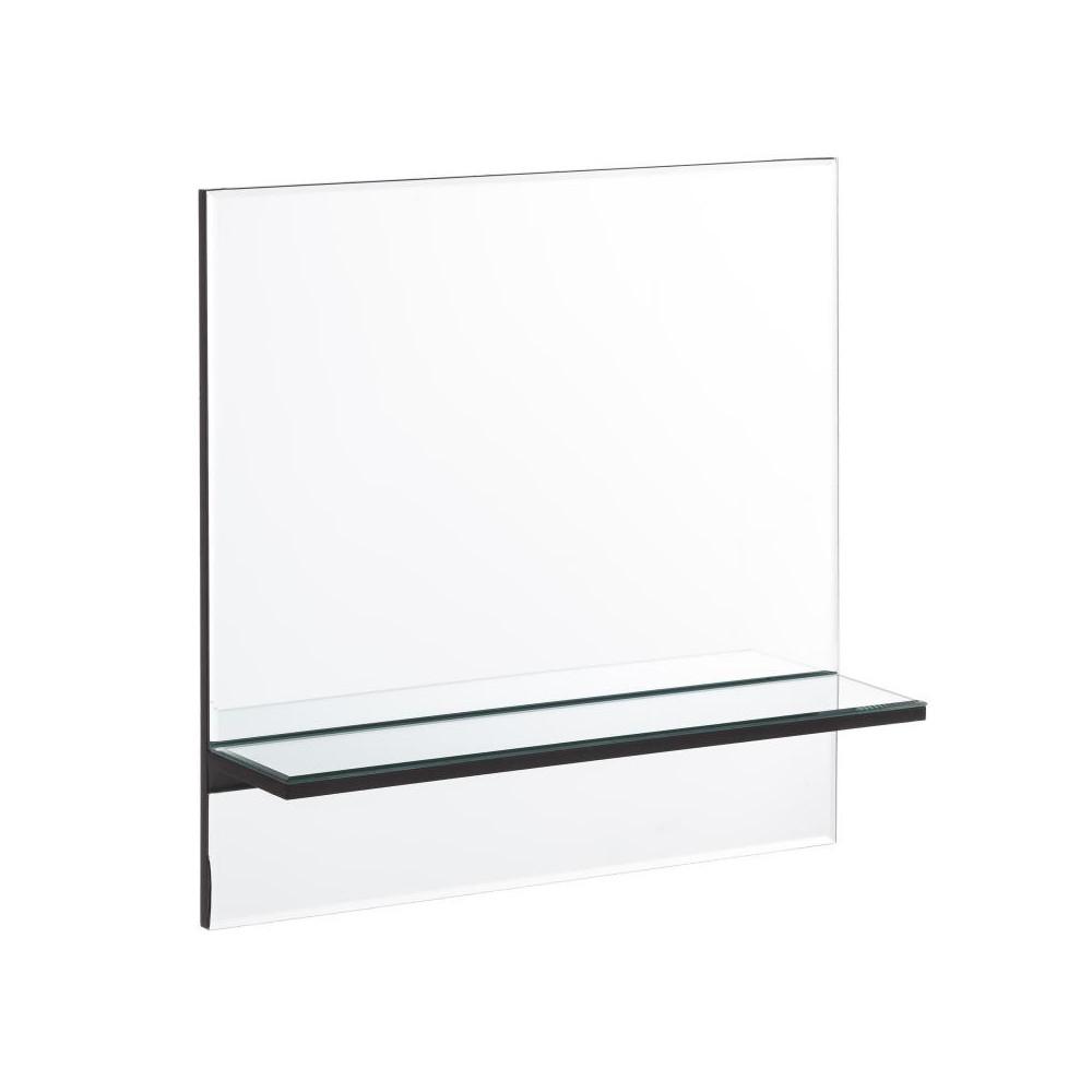 Miroir carré étagère Verre - ZARICO