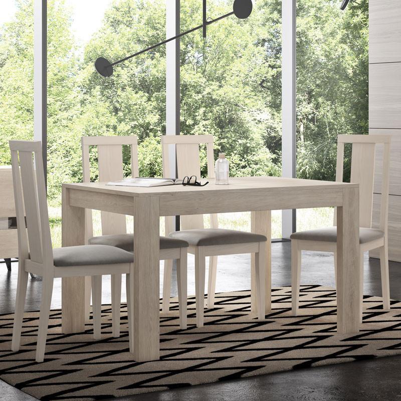 Ensemble Table & Chaises Bois clair - CAMELIA