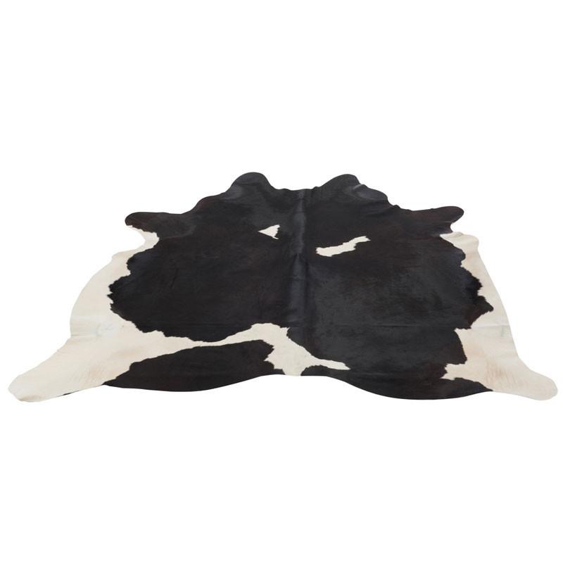 Tapis peau de vache Cuir noir 230*240 - HOLSTEIN