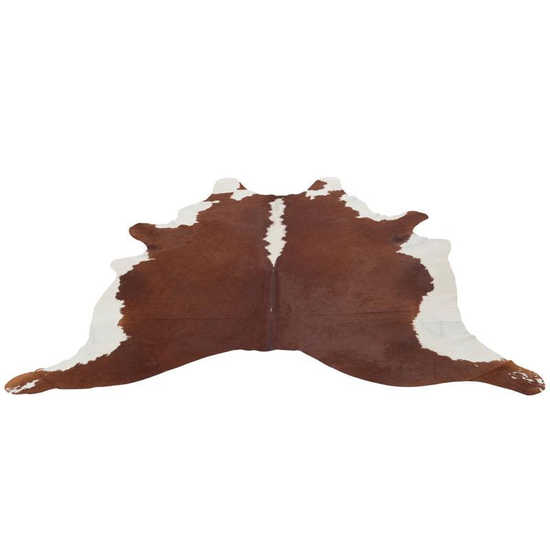 Tapis peau de vache Cuir marron 230*240 - HOLSTEIN