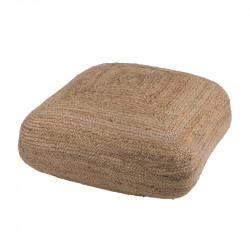 Pouf carré en Jute naturelle - PLEAS