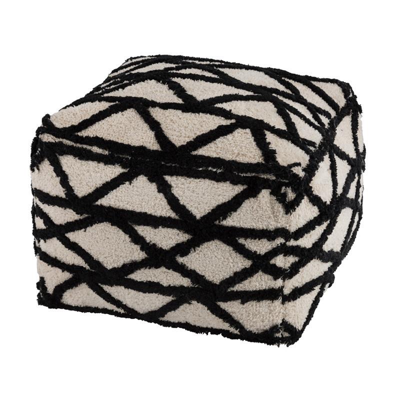 Pouf à motifs Noir et Blanc - TWIGO