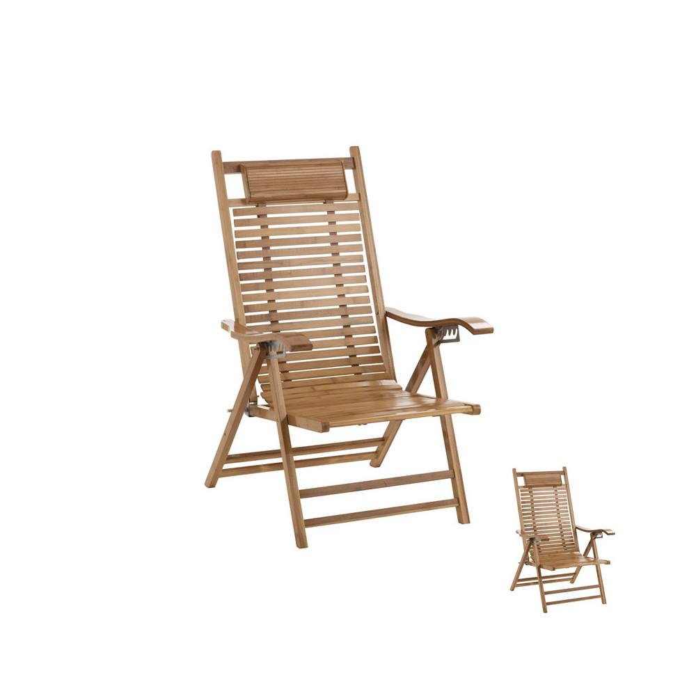 Duo de chaises longues en Bambou - JASMINE