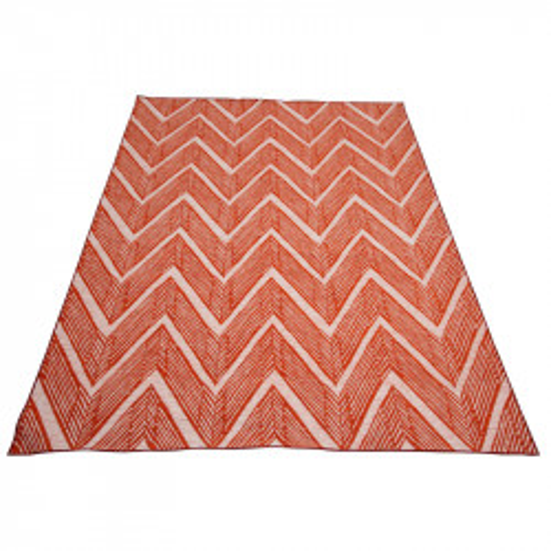 Tapis Tissu orange/blanc taille L  - DRABLE