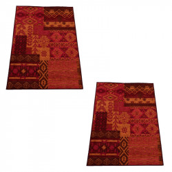 Duo de Tapis Tissu rouge taille S - GOMBO