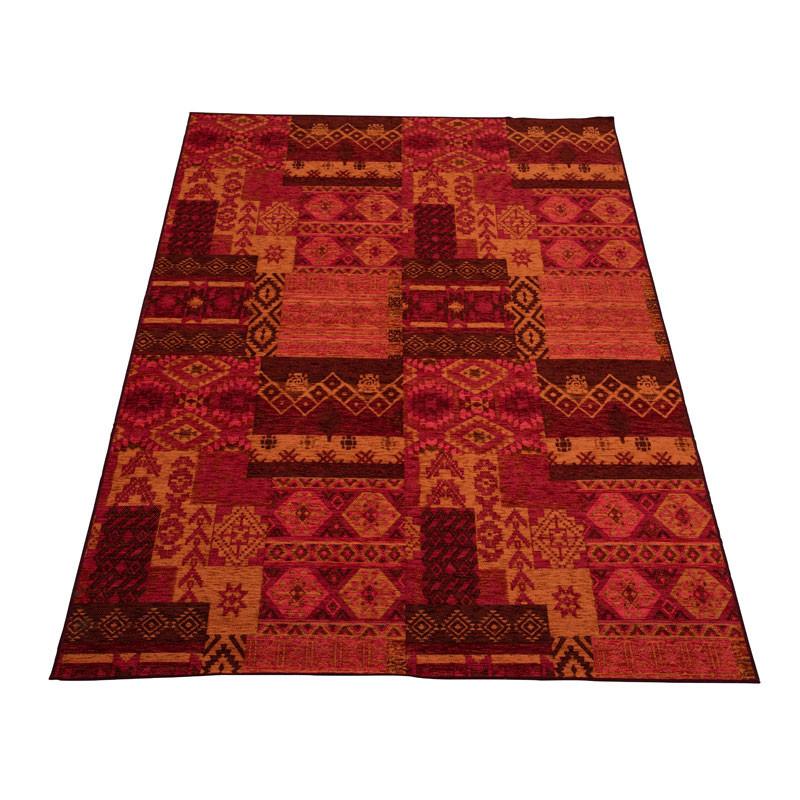 Tapis Tissu rouge/orange taille M - GOMBO
