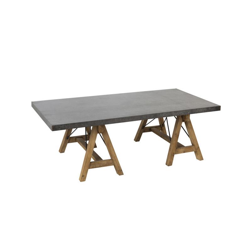 Table basse rectangulaire Bois/Métal - GERBERA