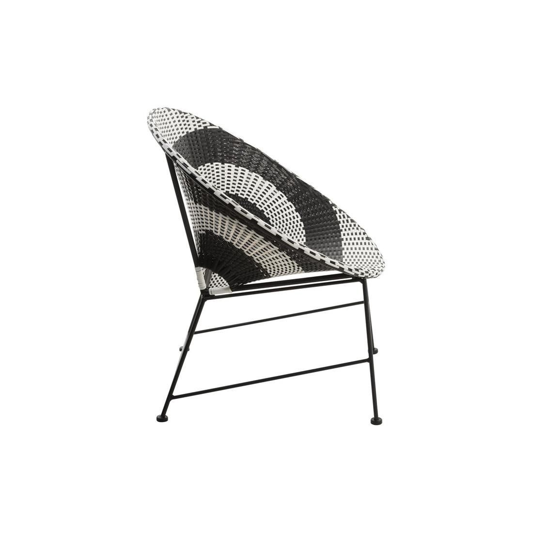 chaise m tal plastique noir et blanc harrin univers du. Black Bedroom Furniture Sets. Home Design Ideas