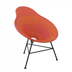 Chaise poire Plastique Rouge et Orange - FILIPPA