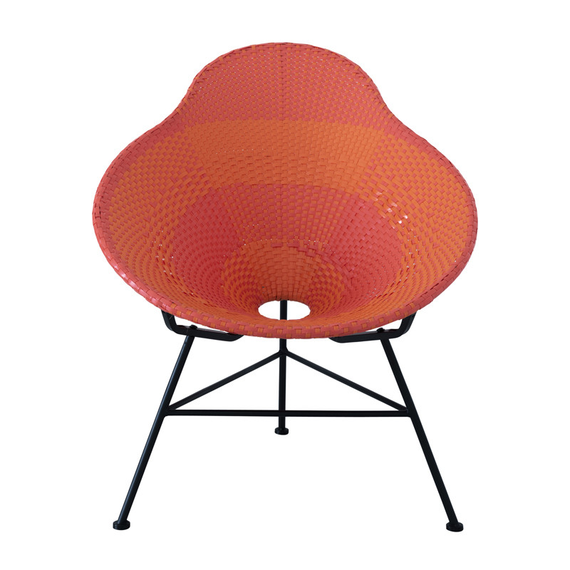 Chaise poire Plastique Rouge et Orange FILIPPA - Univers du Jardin