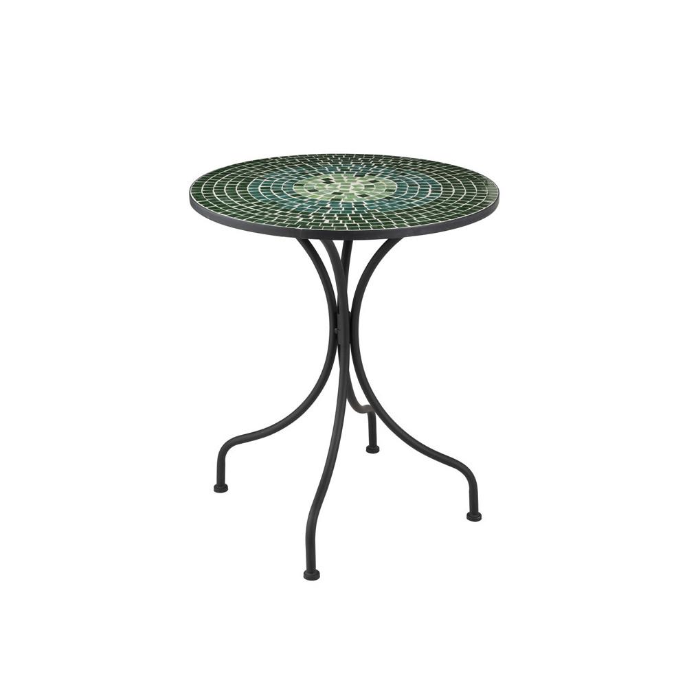Table ronde Métal/Mosaïque verte NEWIA n°1 - Univers du Jardin