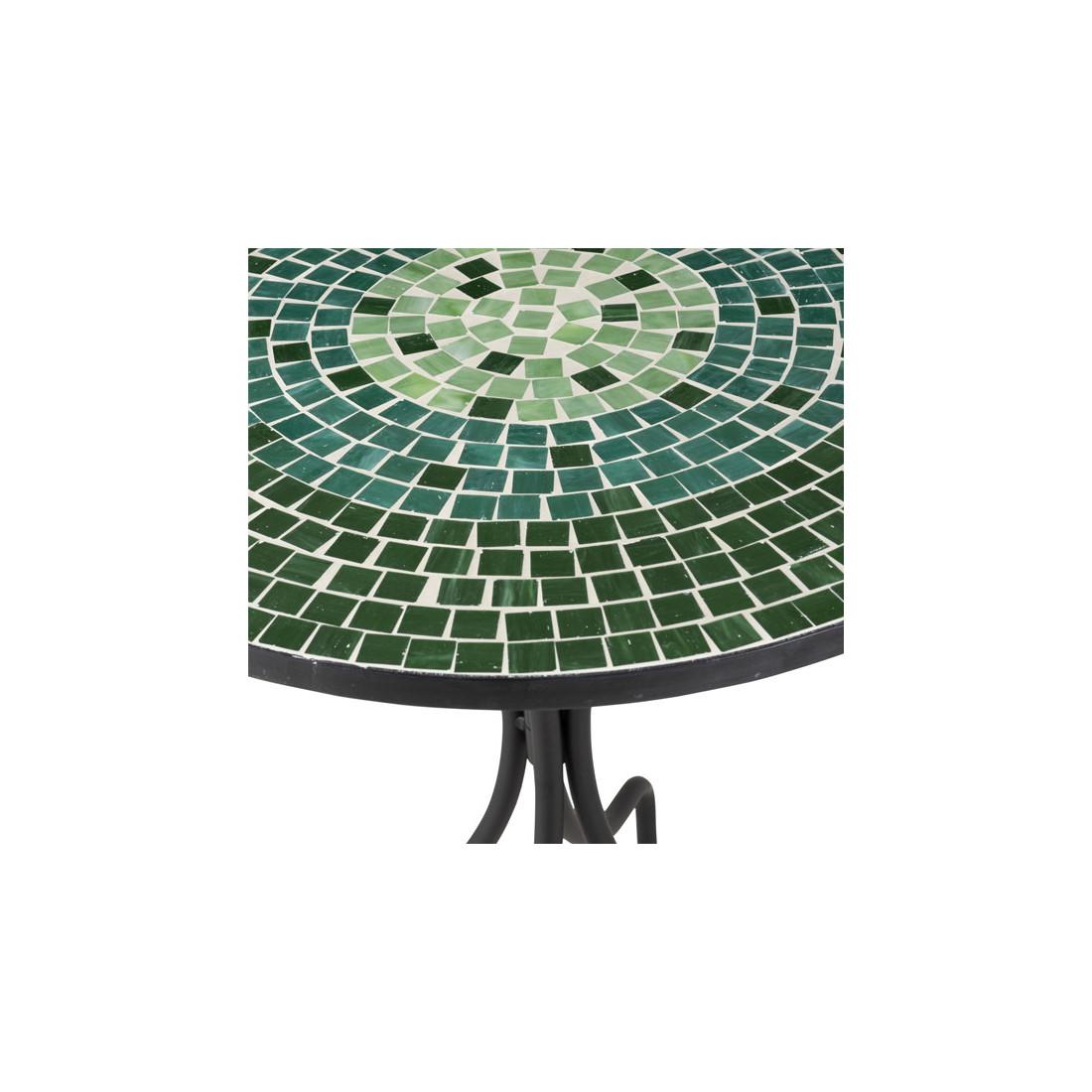 table ronde m tal mosa que verte newia n 1 univers du jardin. Black Bedroom Furniture Sets. Home Design Ideas