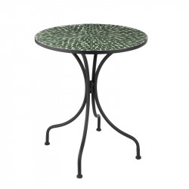 Table ronde Métal/Mosaïque verte - NEWIA n°2