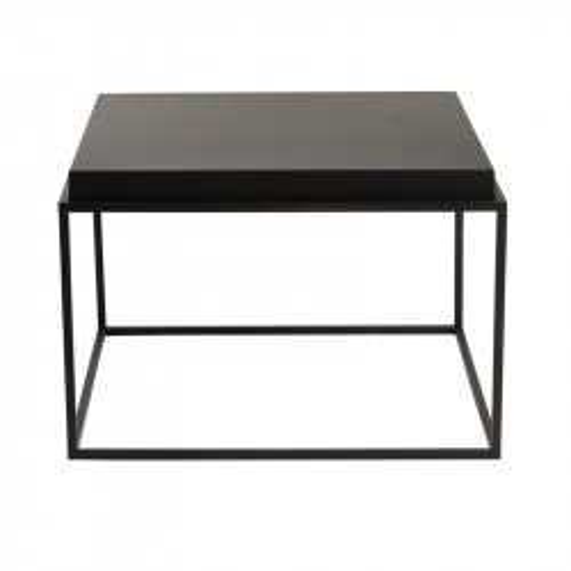 Table d'appoint carrée Métal noir taille M - BORA