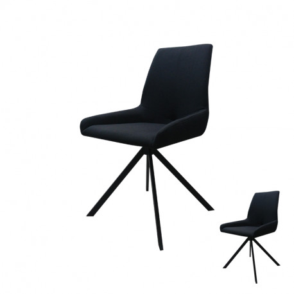 Duo de Chaises Noir design - Univers Assises et Salle à Manger : Tousmesmeubles