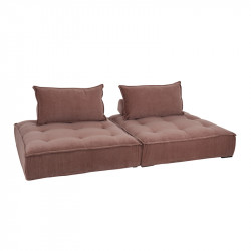 Canapé de sol Velours rose - OPUNOHU
