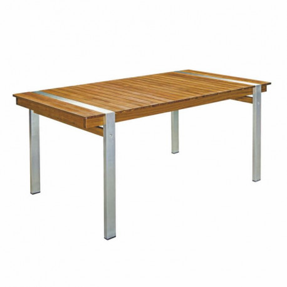 Table de repas rectangulaire Bois/Acier - RAIVAVAE