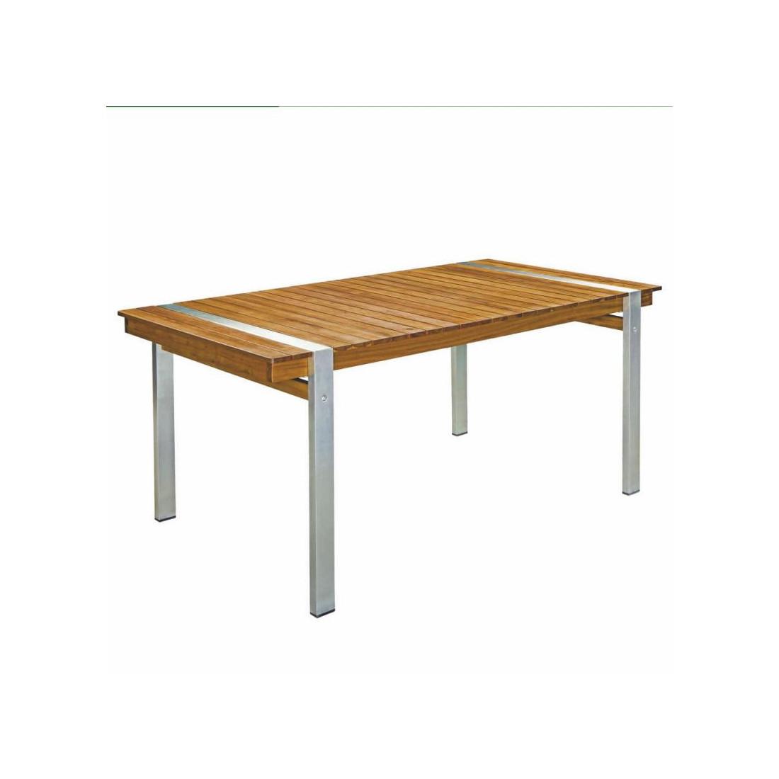 table de repas rectangulaire bois acier raivavae univers. Black Bedroom Furniture Sets. Home Design Ideas