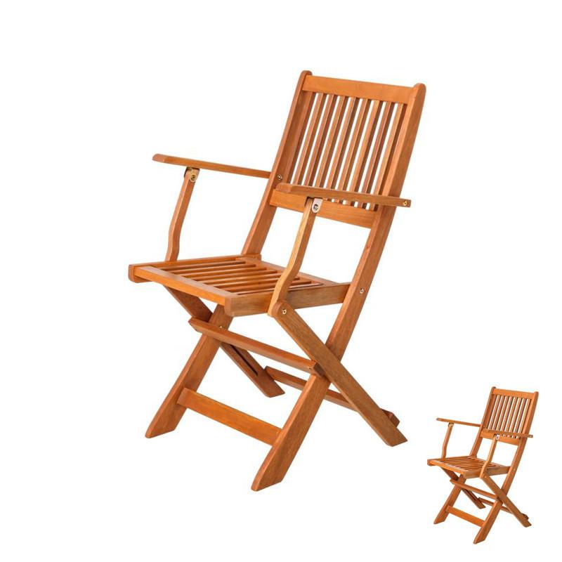 Duo de Chaises pliantes avec accoudoirs en Bois - MOOFUSHI