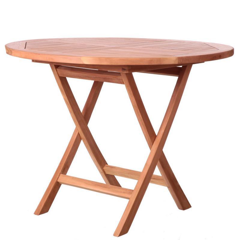 Table de repas ronde en Bois de teck - HALAVELI
