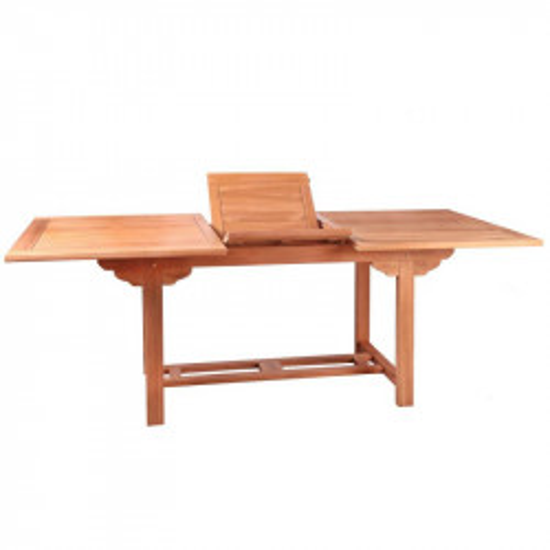 Table de repas rectangulaire à allonge Bois de teck - HALAVELI