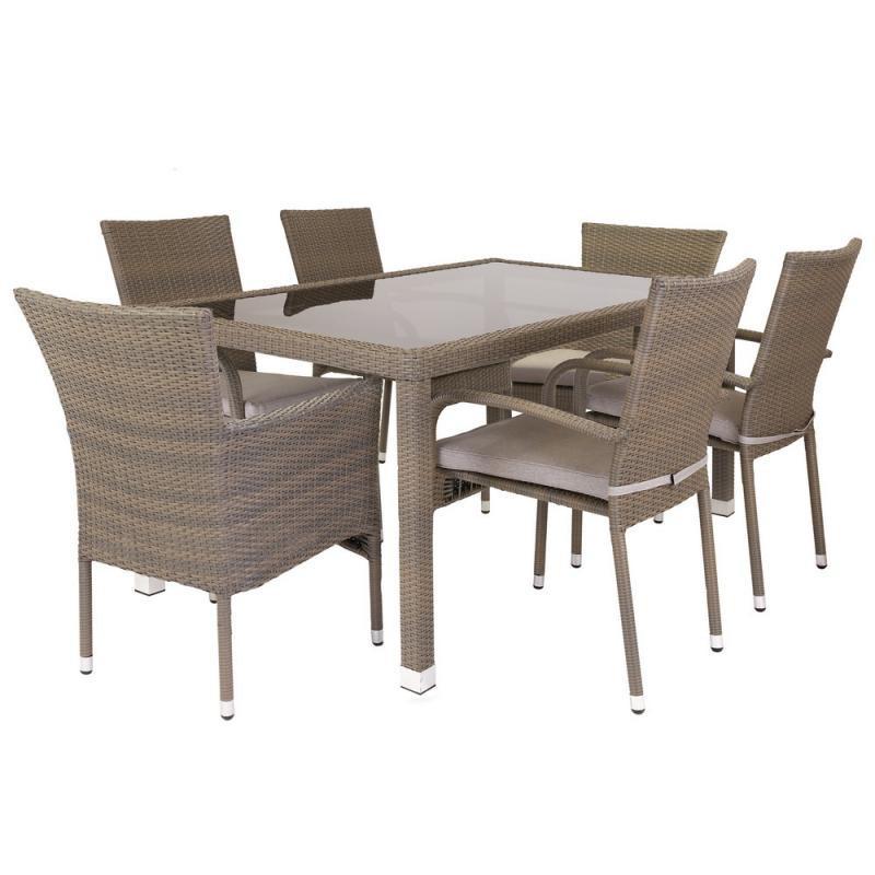 Ensemble Table & Chaises Rotin synthétique - BAROS n°2