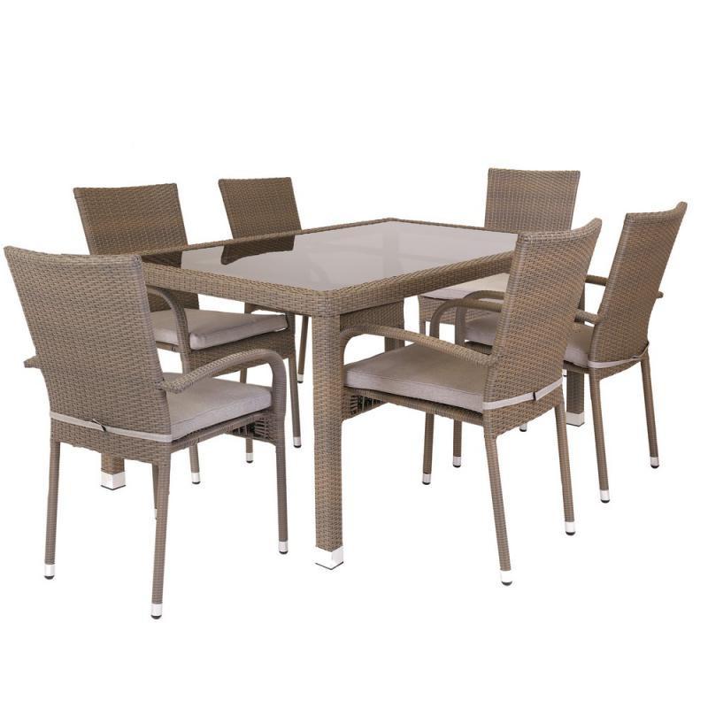 Ensemble Table & Chaises Rotin synthétique - BAROS n°3