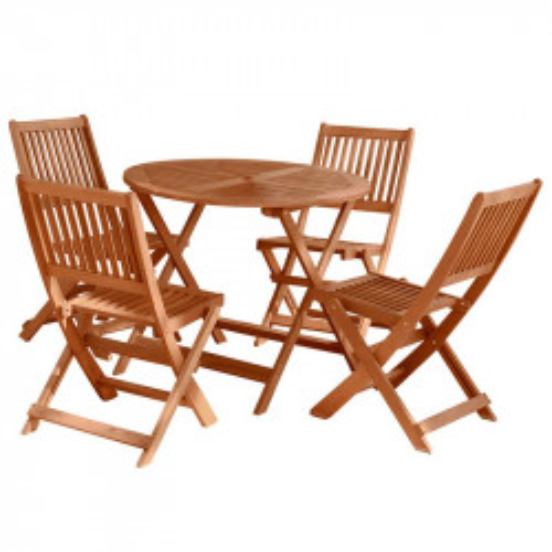 Ensemble Table & Chaises en Bois - MOOFUSHI