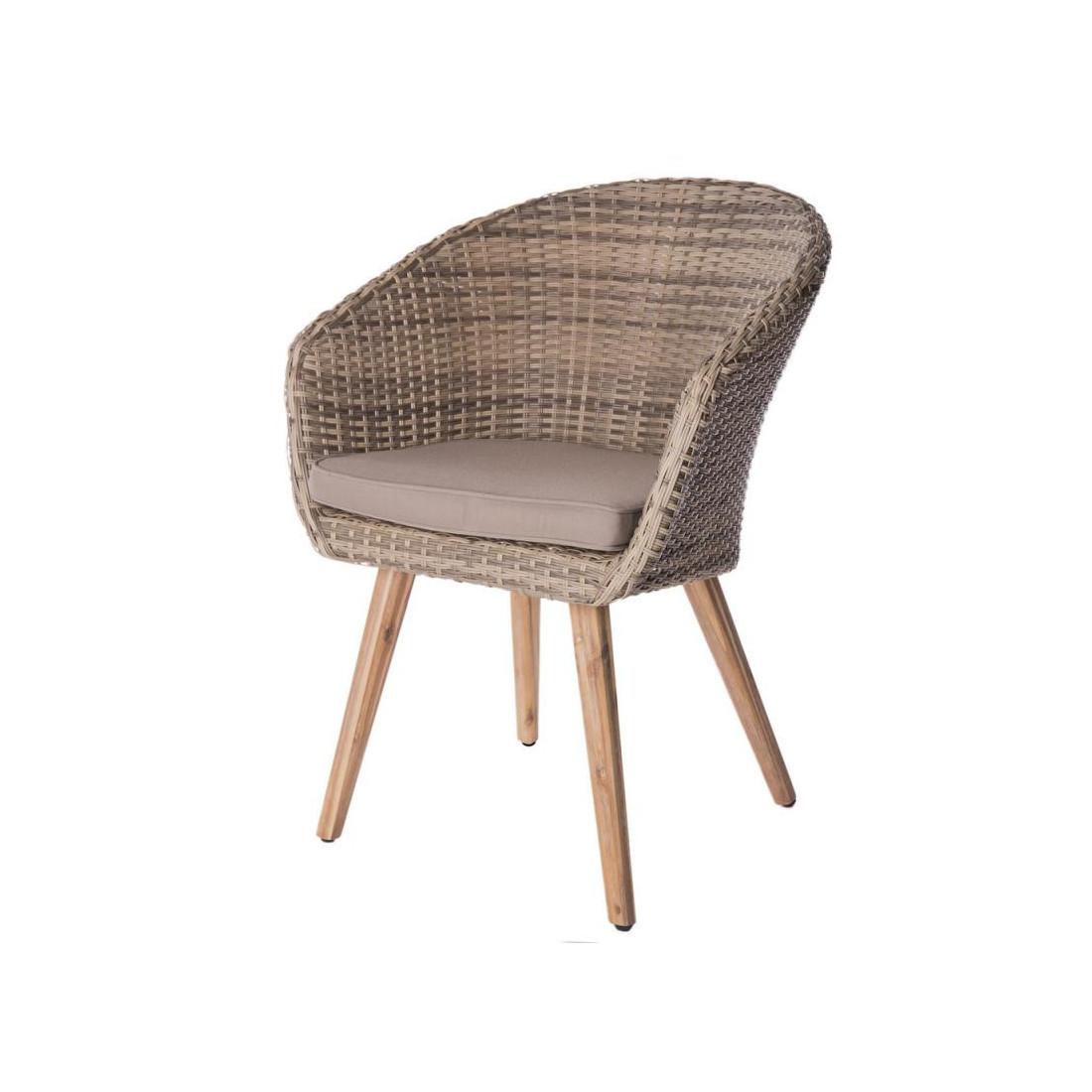 ensemble table ronde chaises bois rotin huraa univers. Black Bedroom Furniture Sets. Home Design Ideas
