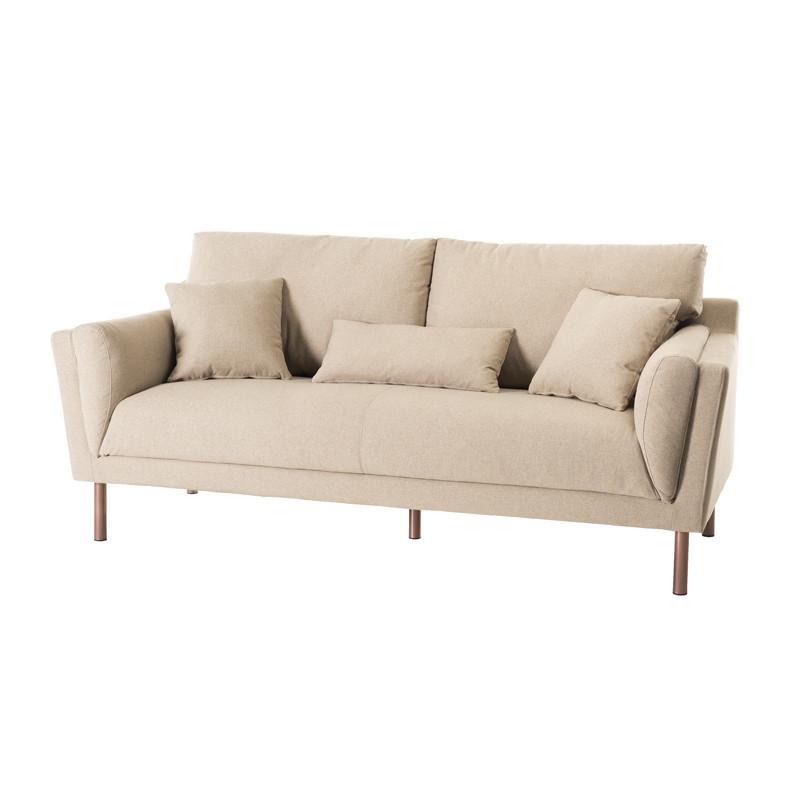 Canapé 3 places tissu piétement métal moderne - Univers Assises et Salon : Tousmesmeubles