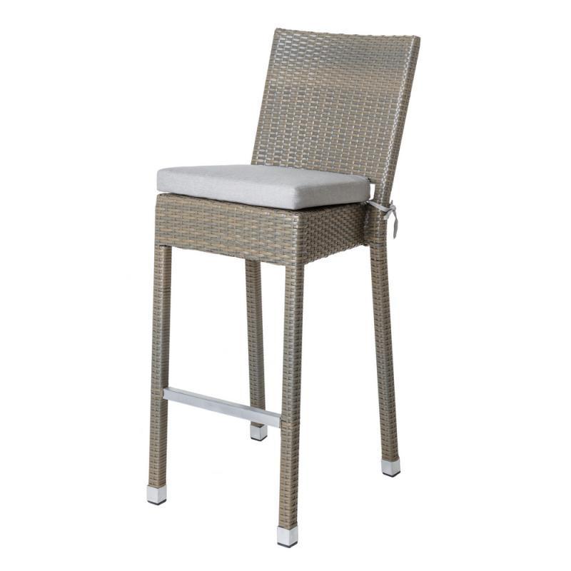 Chaise de bar en Rotin taupe - BAROS