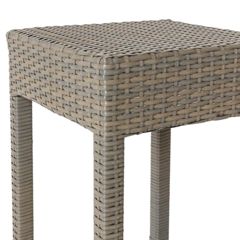 tabouret de bar en rotin taupe baros univers du jardin. Black Bedroom Furniture Sets. Home Design Ideas