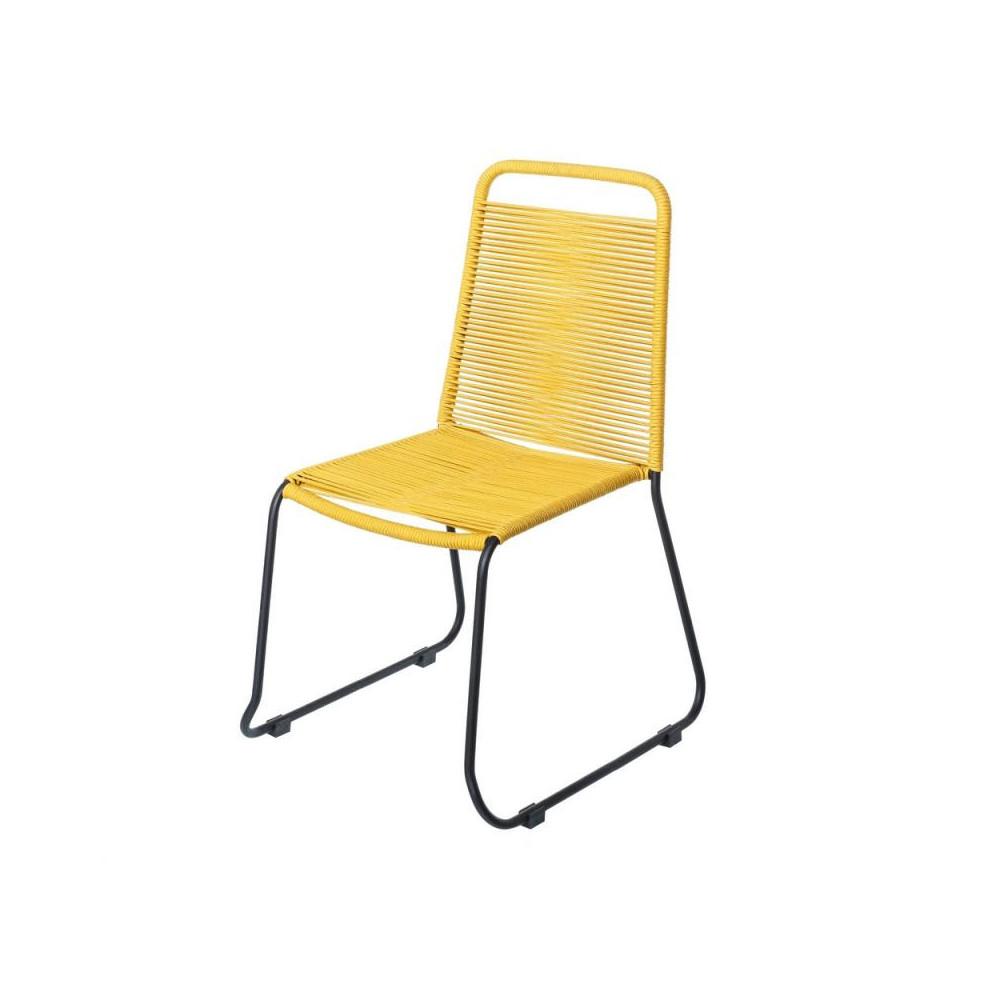 Chaise en Corde jaune/Acier noir - WETAR