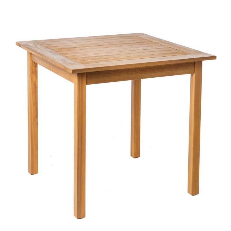 Table de repas carrée en Bois - OLUVELI