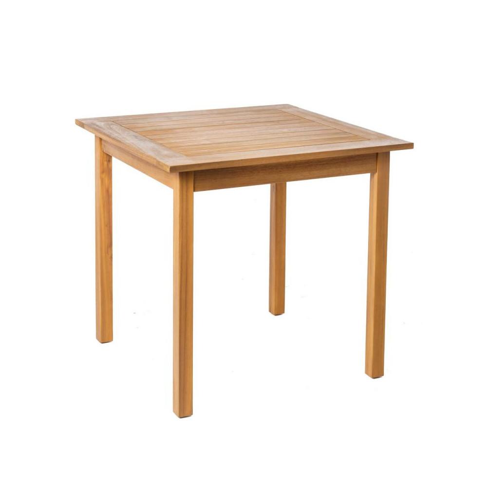 Table de repas carrée en Bois acacia OLUVELI - Univers du Jardin