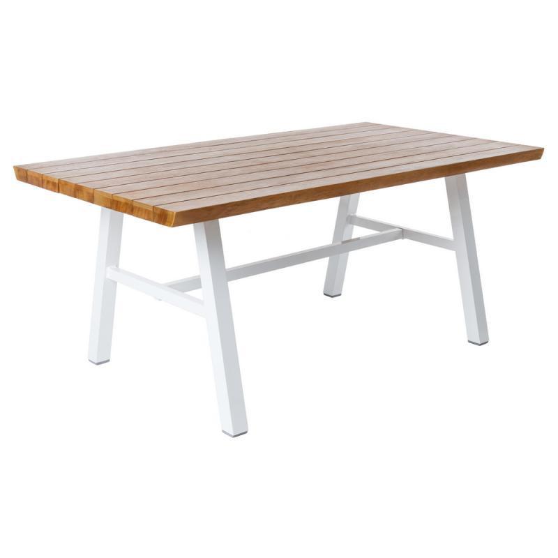 Table de repas en Bois/Aluminium blanc - SOLOR