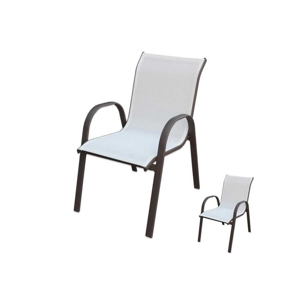Duo de Chaises Textilène/Acier noir - TIKEHAU
