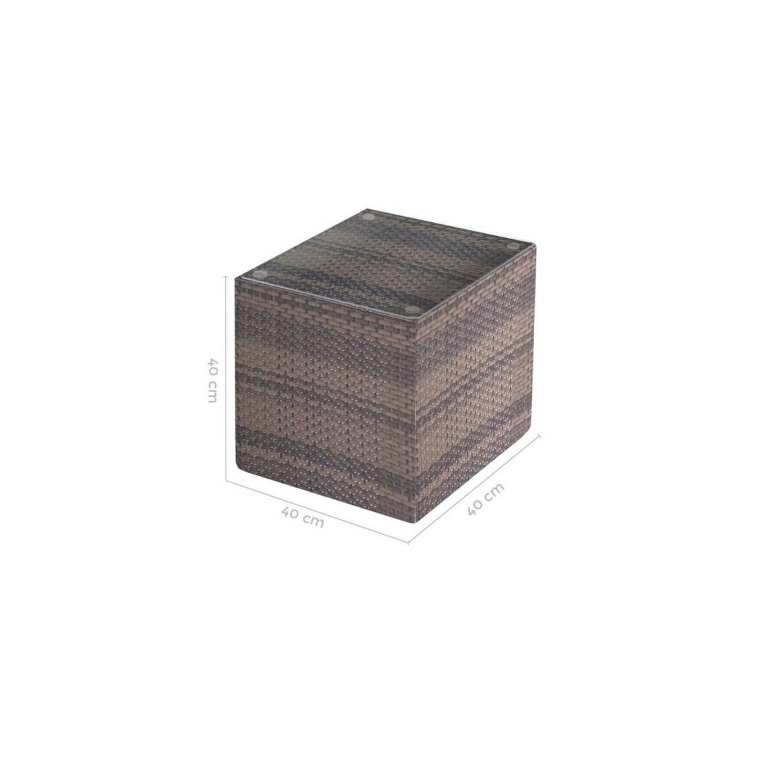 table d 39 appoint rotin taupe baros univers du jardin. Black Bedroom Furniture Sets. Home Design Ideas