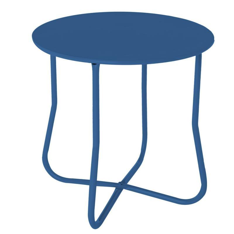 Table d'appoint Acier Bleu indigo extérieur - Univers Jardin : Tousmesmeubles