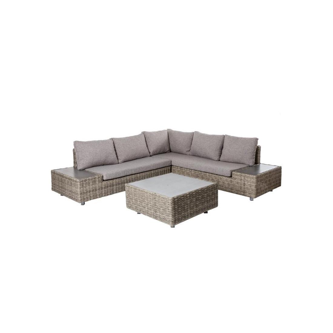 salon complet d 39 ext rieur rotin gris mataiea univers du. Black Bedroom Furniture Sets. Home Design Ideas