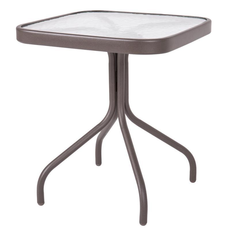 Table d'appoint d'extérieur Acier Marron/Verre - TIKEHAU