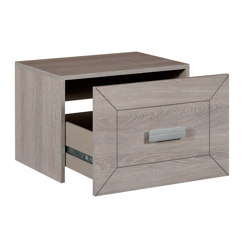 Table de chevet 1 tiroir gris clair romeo univers for Table de chevet bois clair