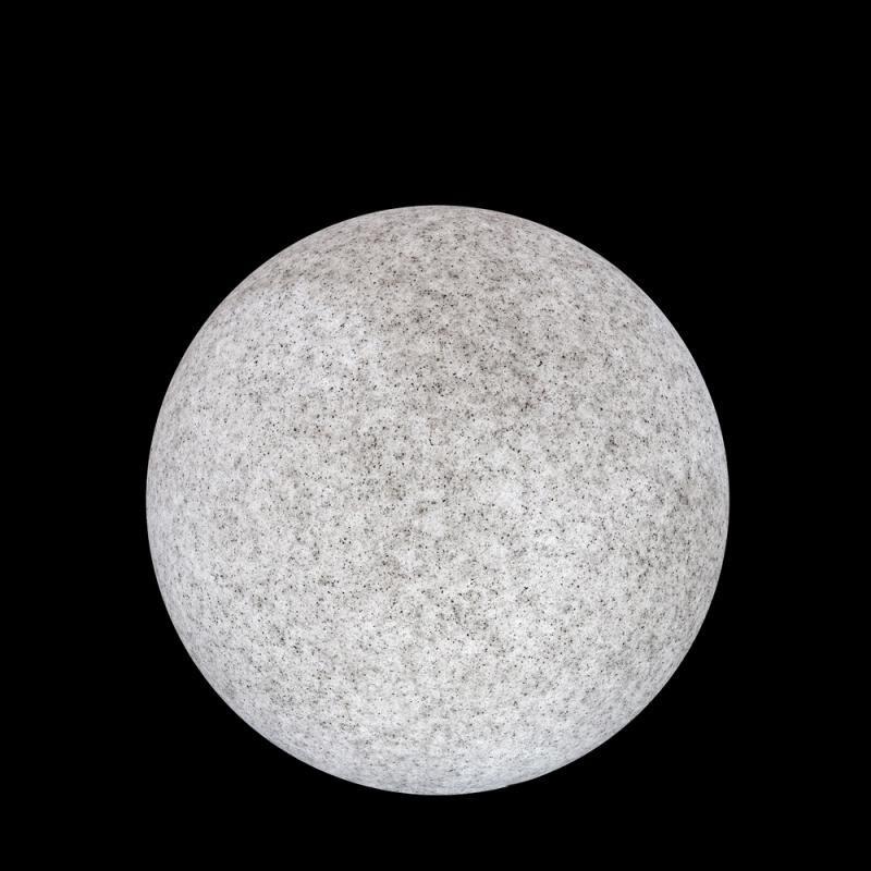 Lampe boule Résine grise taille S - BASENJI