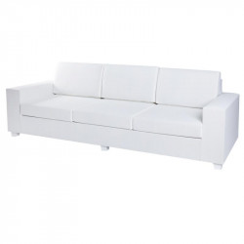 Canapé d'extérieur 3 places Textilène Blanc - BELITUNG
