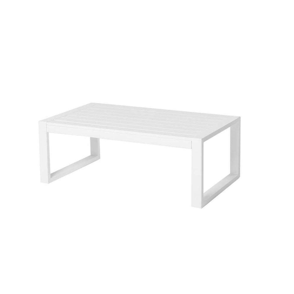 Table basse d'extérieur Aluminium Blanc BELITUNG - Univers Jardin : Tousmesmeubles
