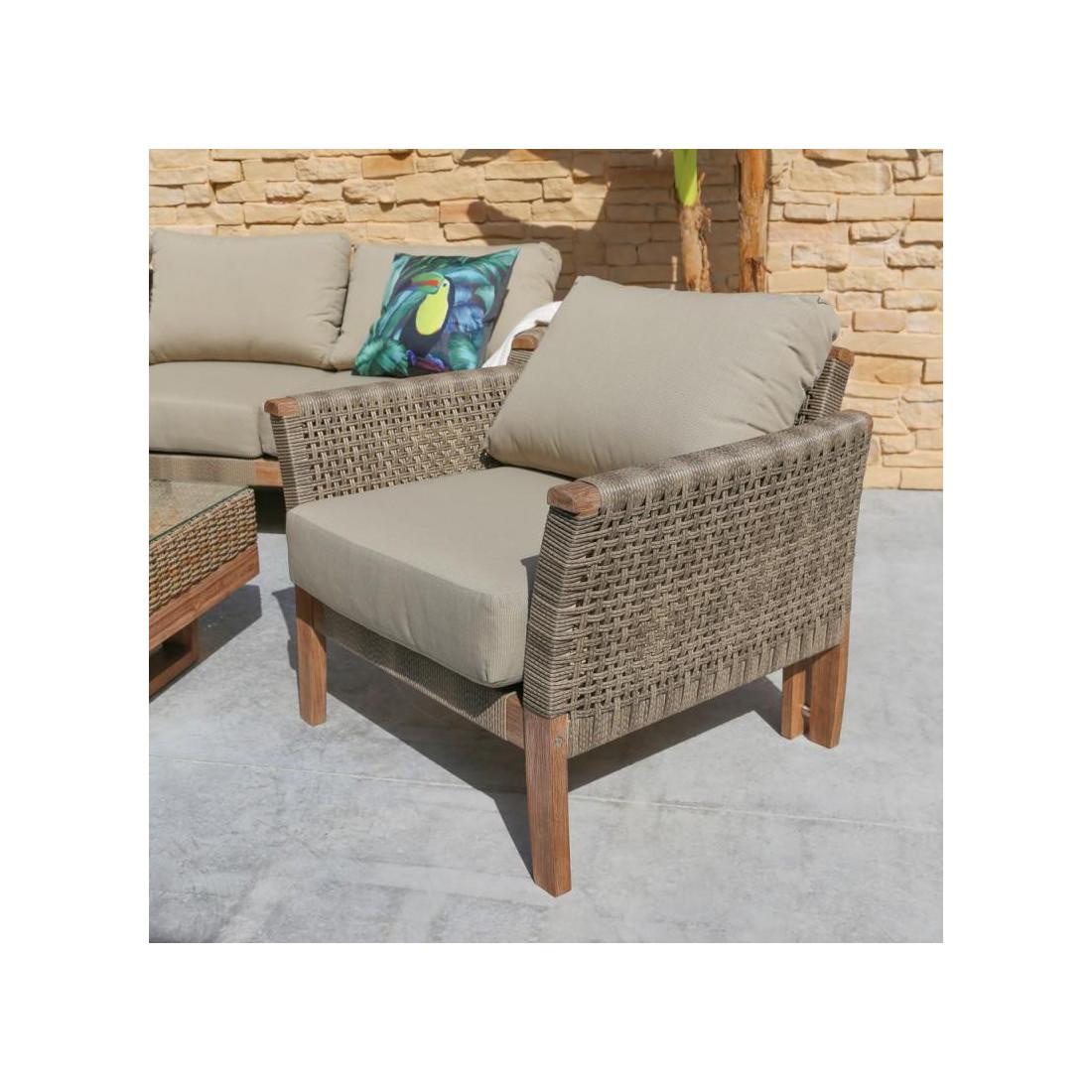 fauteuil rotin bois sumba univers du jardin. Black Bedroom Furniture Sets. Home Design Ideas
