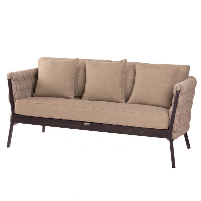 Canapé d'extérieur Aluminium/Tissu tressé - UTUROA