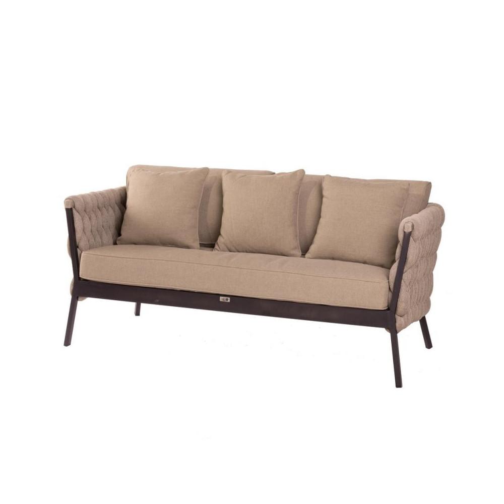 Canapé d'extérieur Aluminium/Tissu tressé extérieur - Univers Jardin : Tousmesmeubles