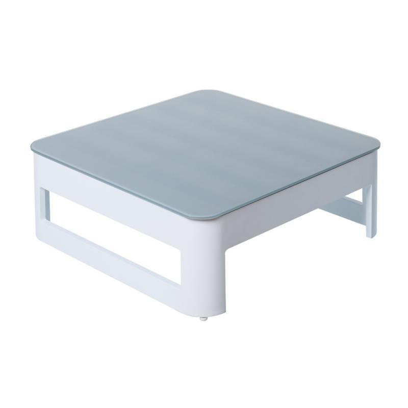 Table basse d'extérieur Aluminium Blanc/Gris - NUKU
